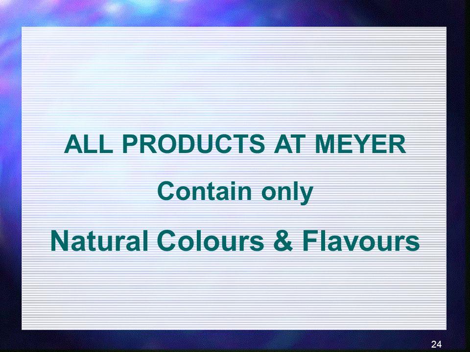 Natural Colours & Flavours