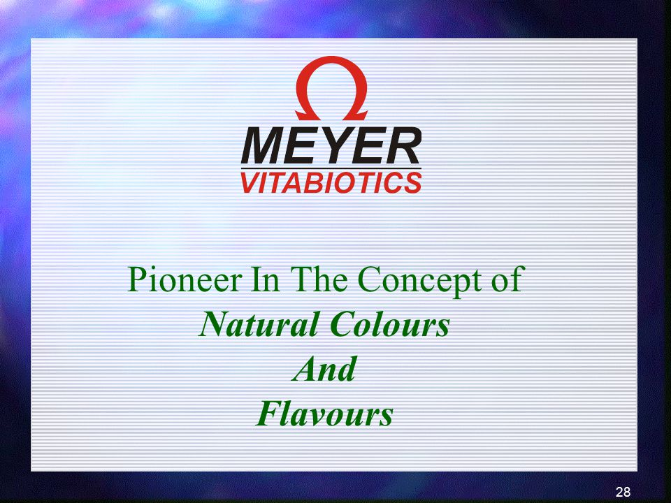 Pioneer In The Concept of Natural Colours
