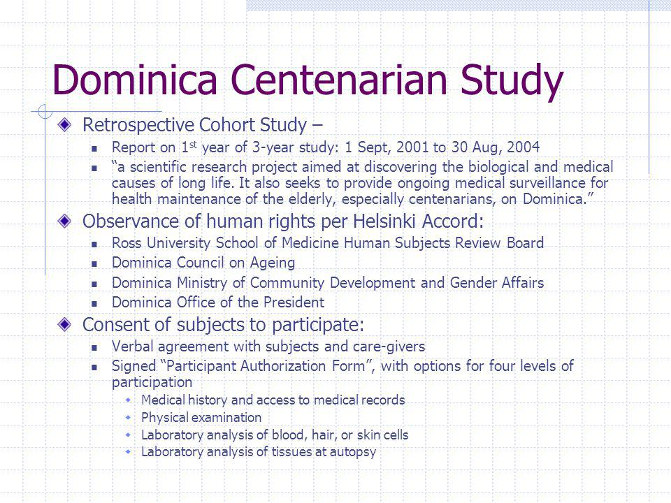 Dominica Centenarian Study