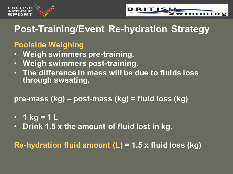 Post-Training/Event Re-hydration Strategy