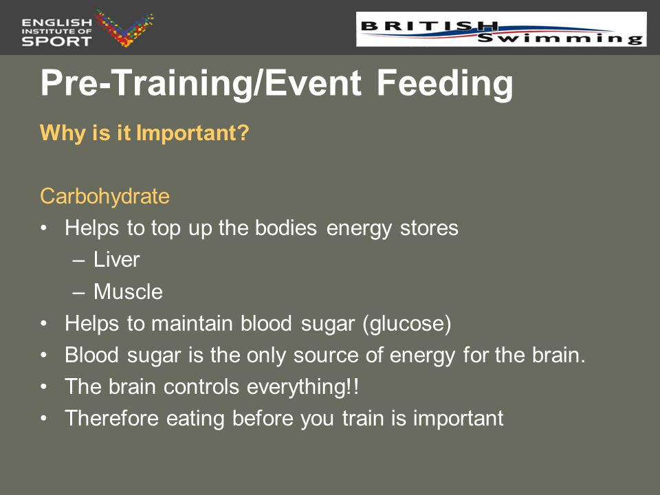 Pre-Training/Event Feeding