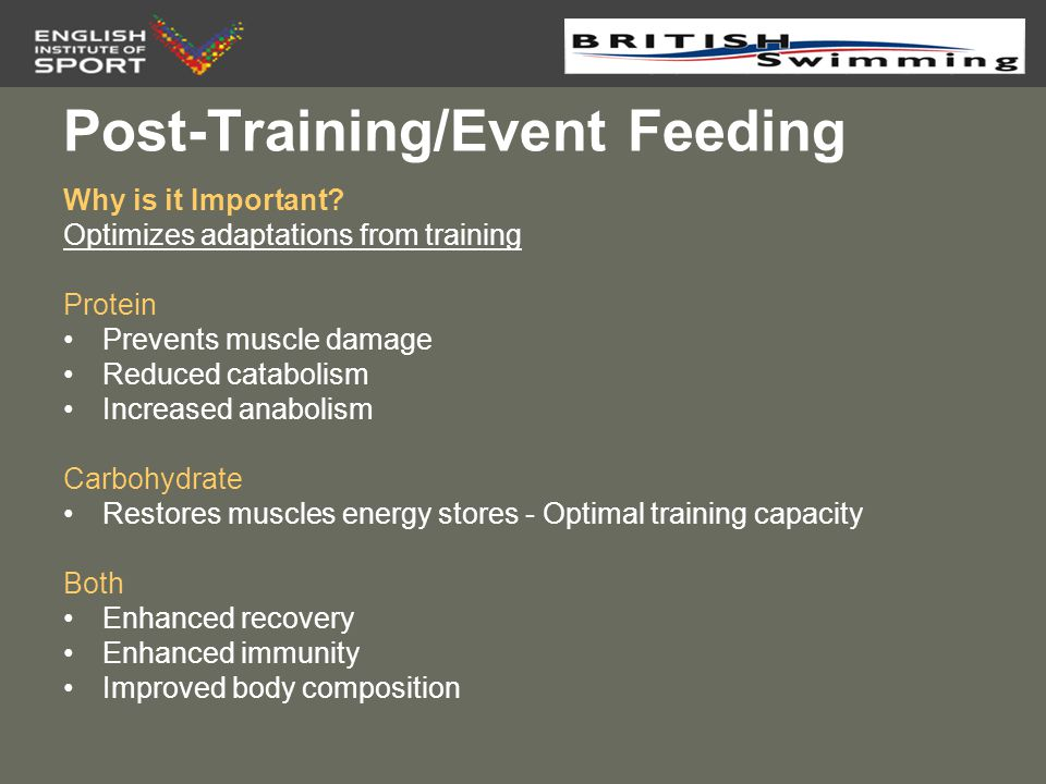 Post-Training/Event Feeding