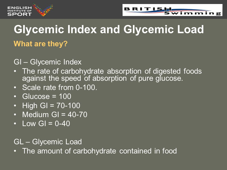 GIycemic Index and Glycemic Load
