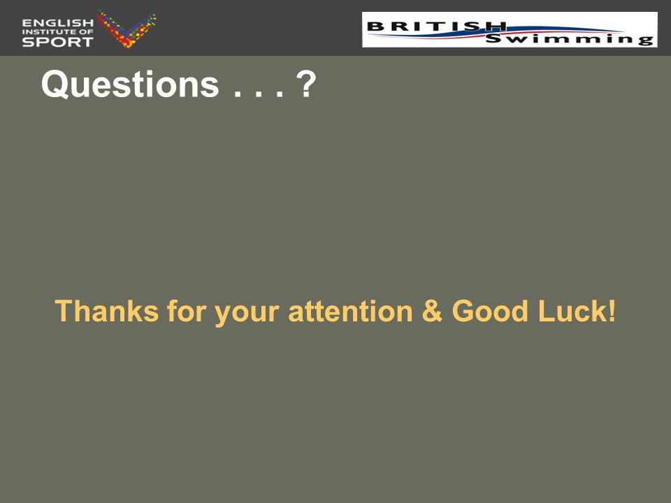 Thanks for your attention & Good Luck!