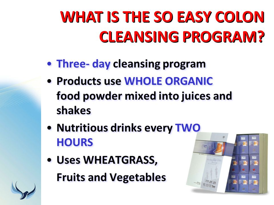 WHAT IS THE SO EASY COLON CLEANSING PROGRAM
