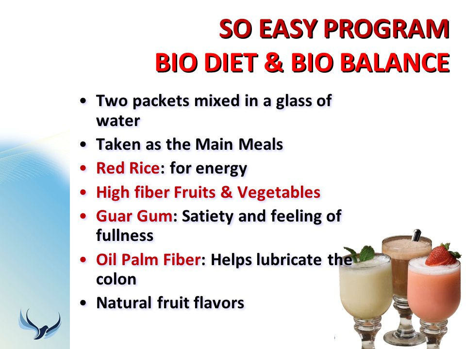 SO EASY PROGRAM BIO DIET & BIO BALANCE