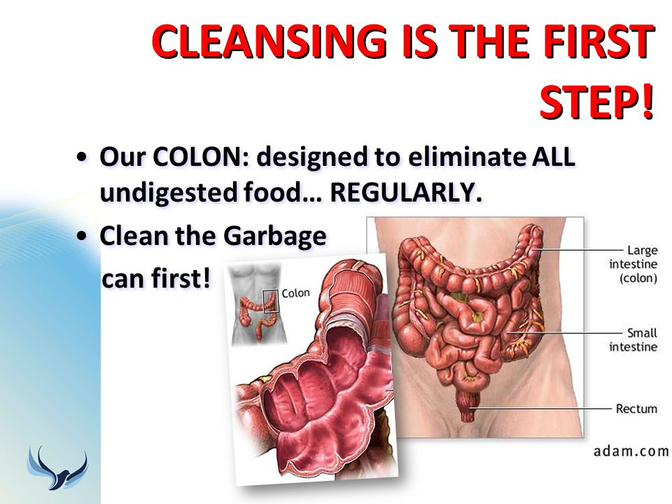 CLEANSING IS THE FIRST STEP!