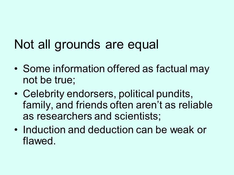 Not all grounds are equal
