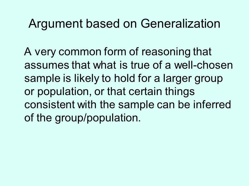 Argument based on Generalization