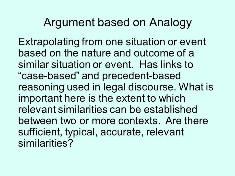 Argument based on Analogy