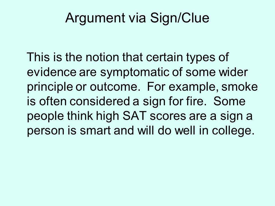 Argument via Sign/Clue