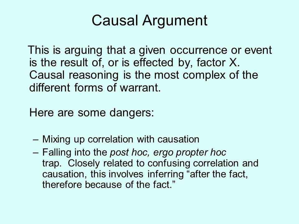 causal argument essay Causal analysis argument about the  it is the intention of this essay to focus on the health  it is obvious there is a causal and effect relationship between.