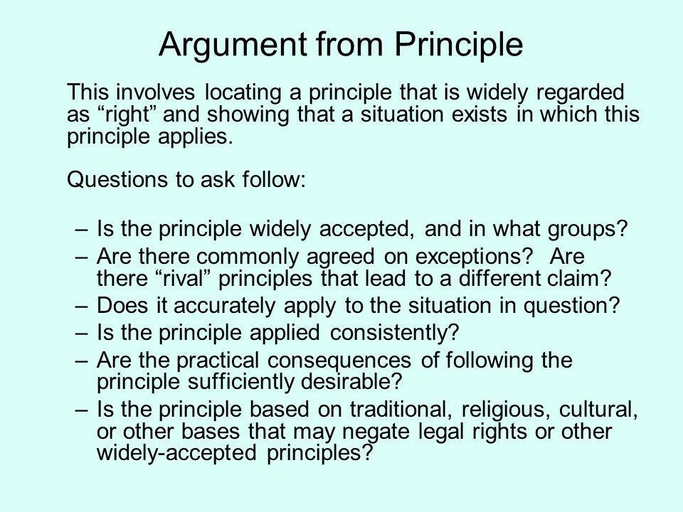 Argument from Principle