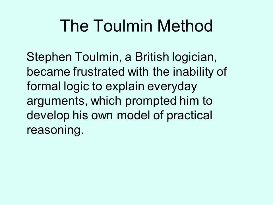 the toulmin method - Toulmin Analysis Essay Example