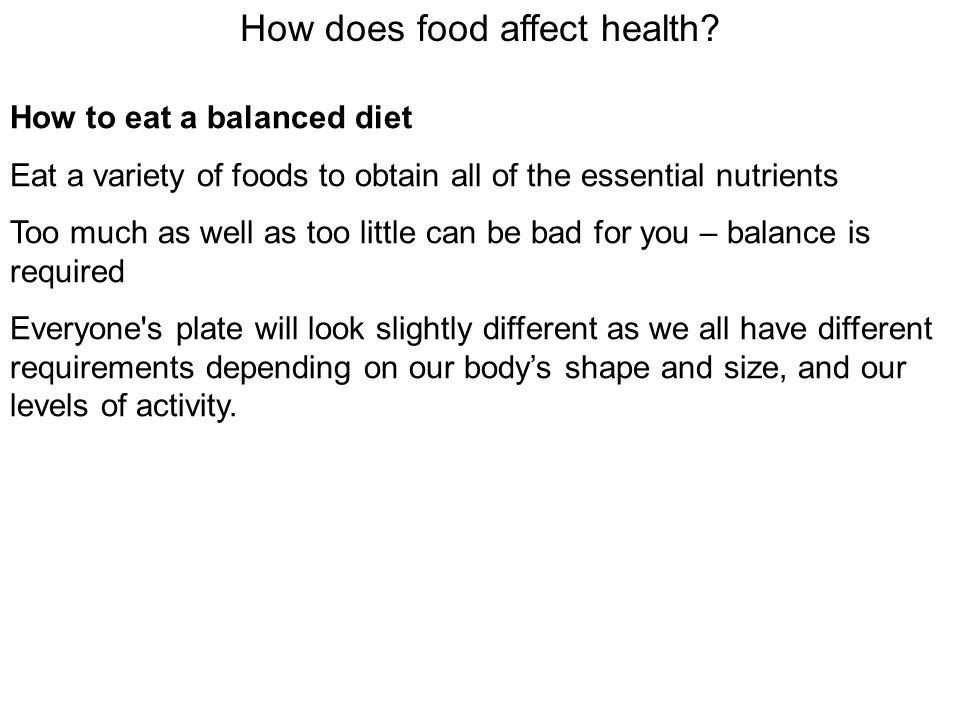 How does food affect health