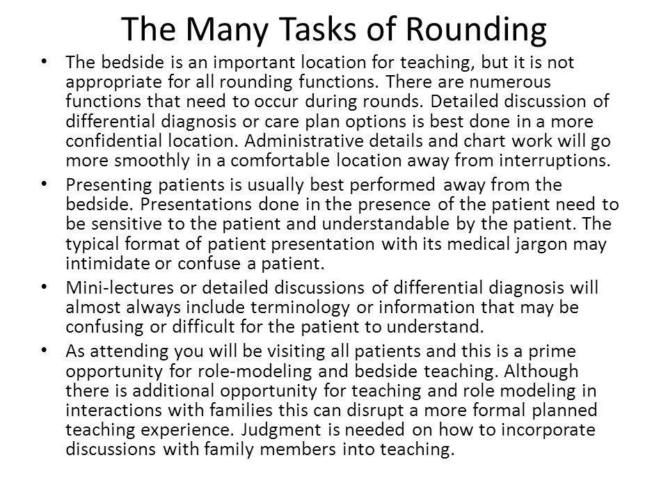 The Many Tasks of Rounding
