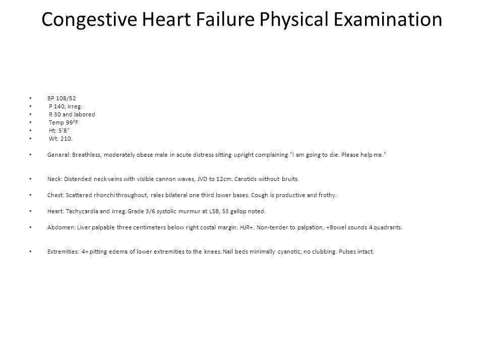 Congestive Heart Failure Physical Examination