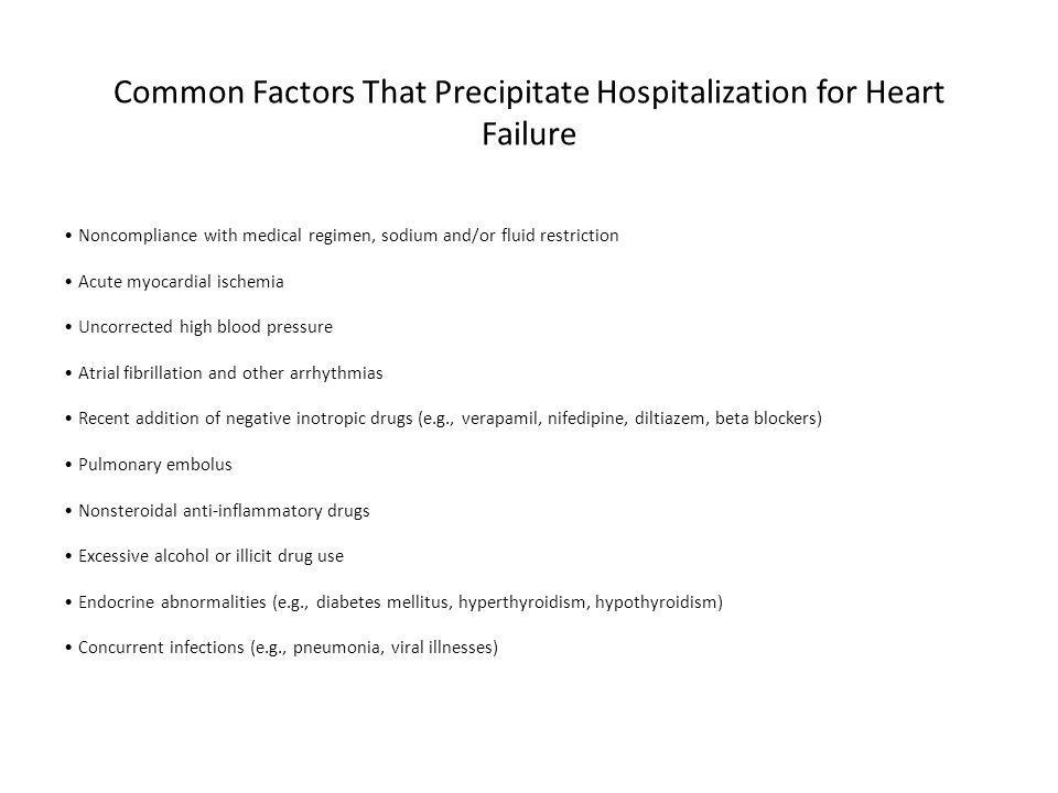 Common Factors That Precipitate Hospitalization for Heart Failure
