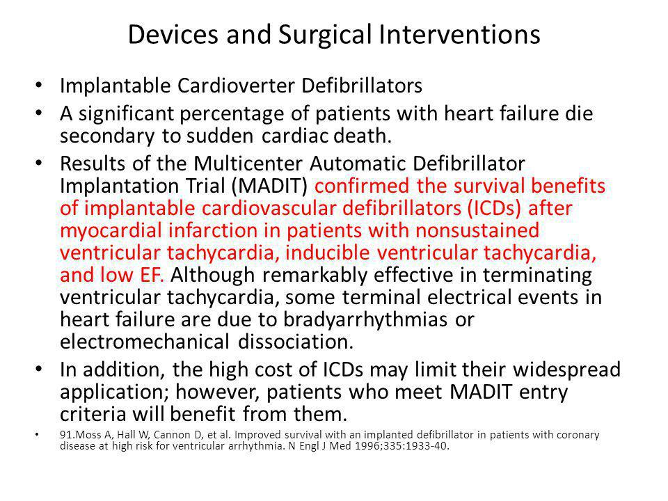 Devices and Surgical Interventions