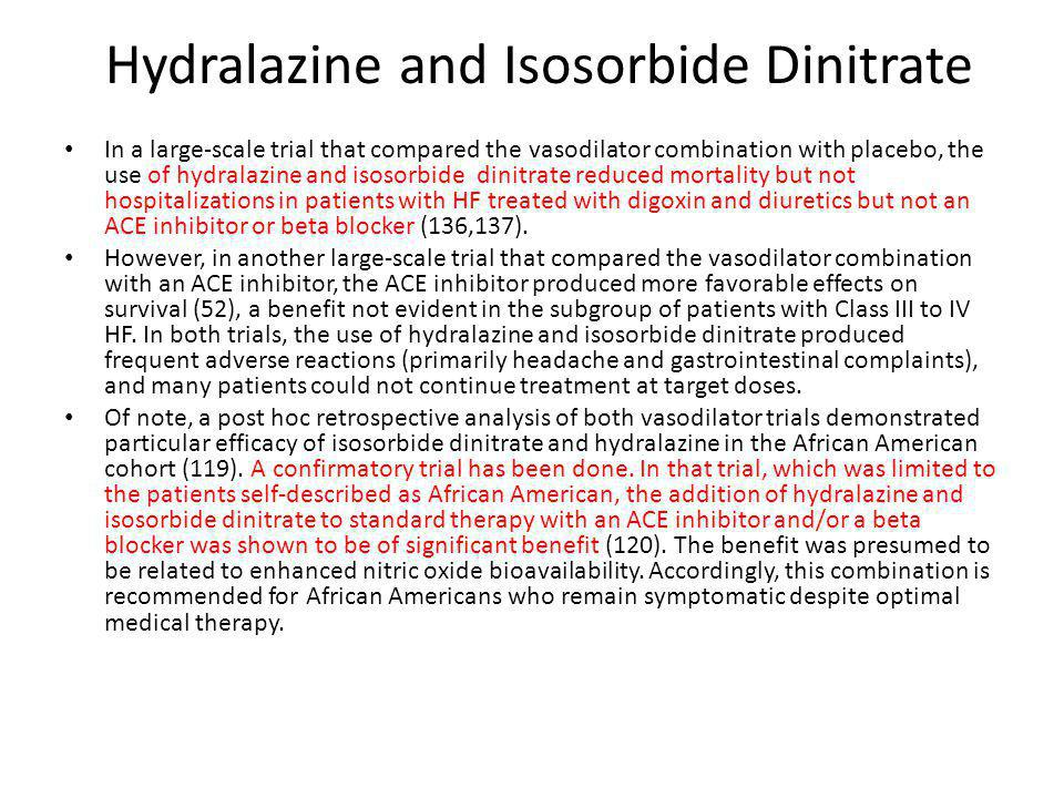 Hydralazine and Isosorbide Dinitrate