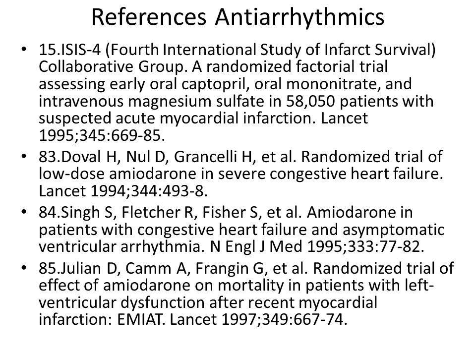 References Antiarrhythmics