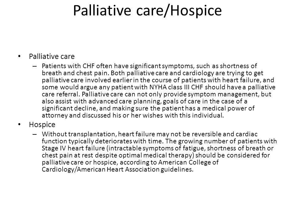 Palliative care/Hospice