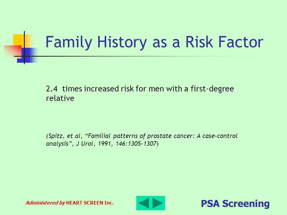 Family History as a Risk Factor