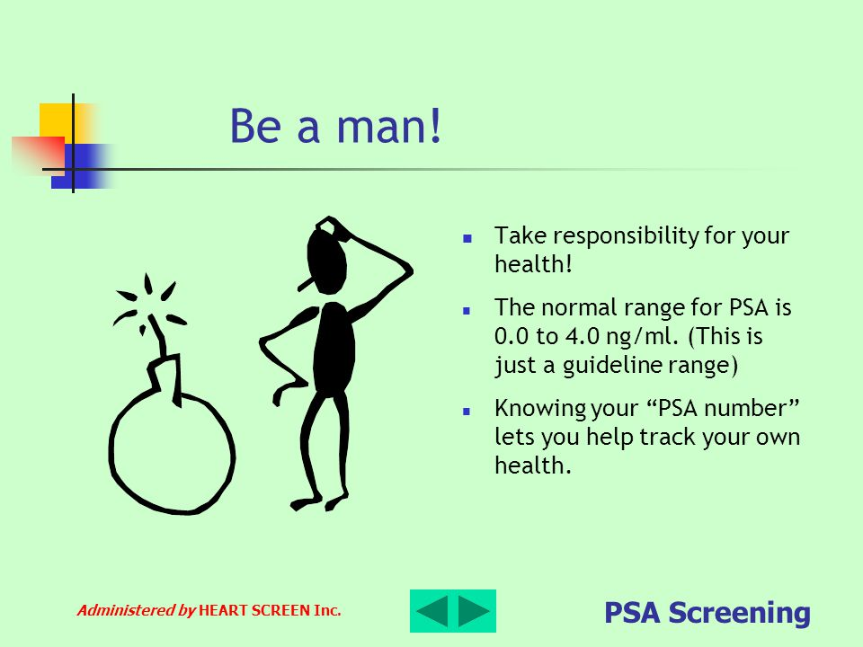 Be a man! Take responsibility for your health!