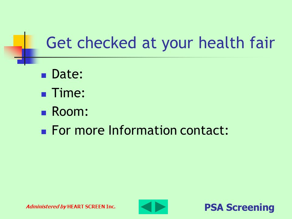 Get checked at your health fair
