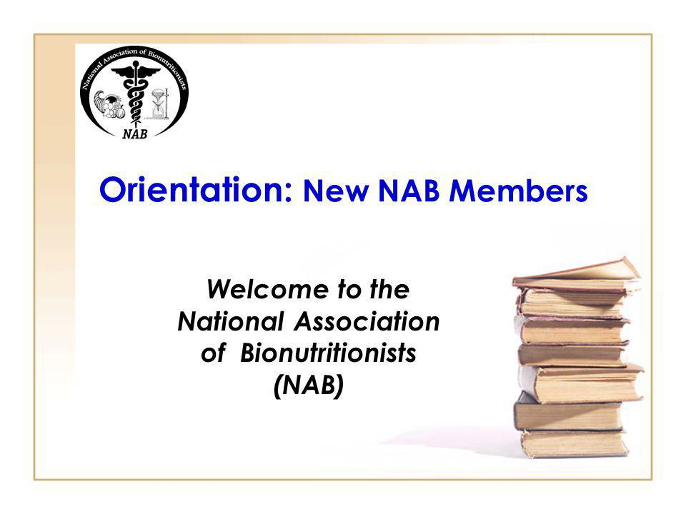 Orientation: New NAB Members
