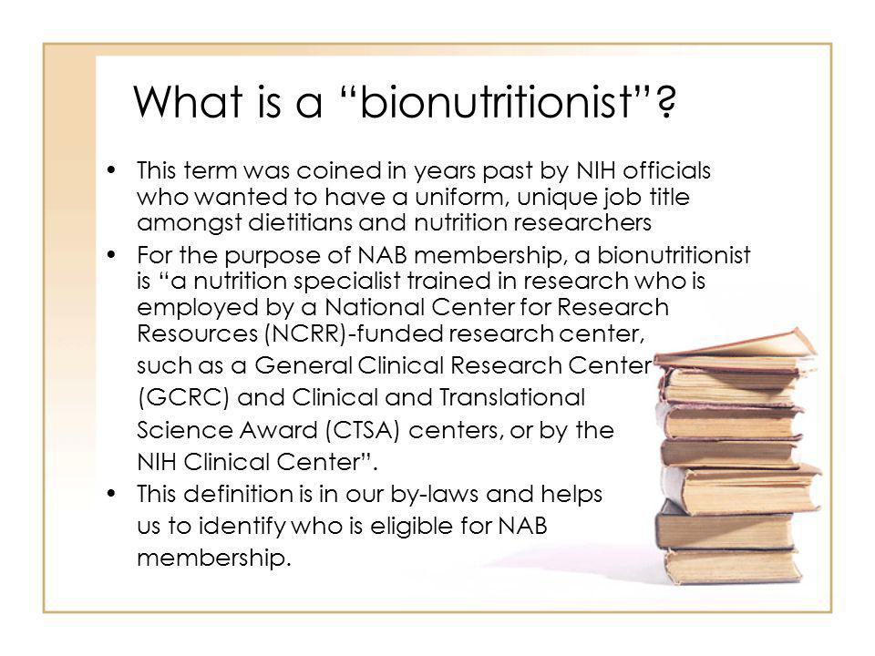 What is a bionutritionist