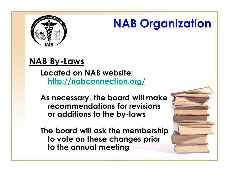 NAB Organization NAB By-Laws