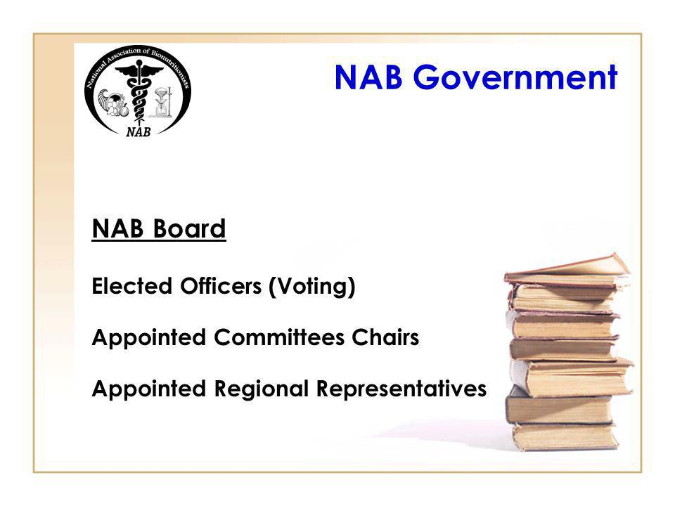 NAB Government NAB Board Elected Officers (Voting)