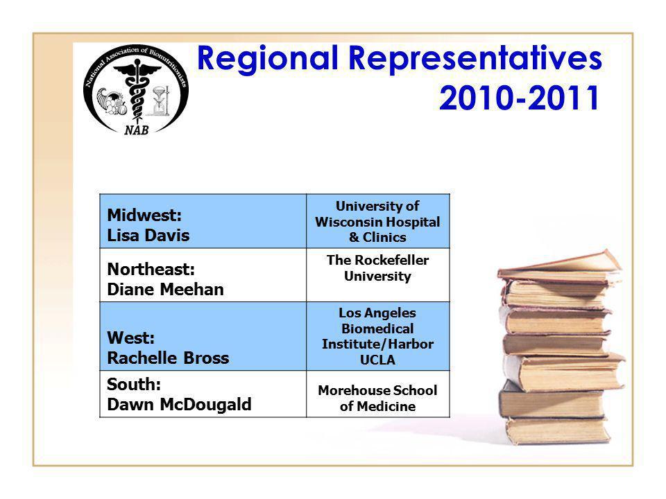 Regional Representatives 2010-2011
