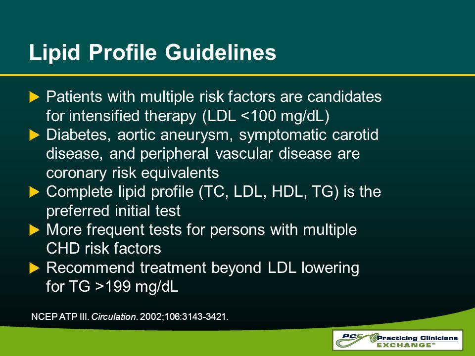 Lipid Profile Guidelines