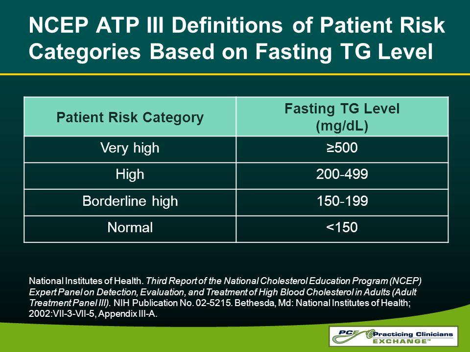 Fasting TG Level (mg/dL)