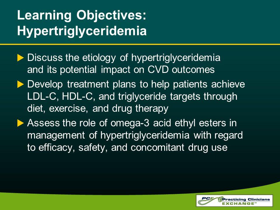 Learning Objectives: Hypertriglyceridemia