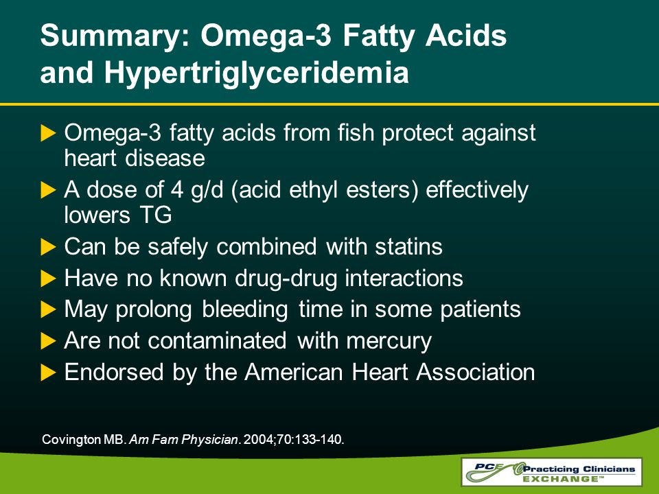 Summary: Omega-3 Fatty Acids and Hypertriglyceridemia