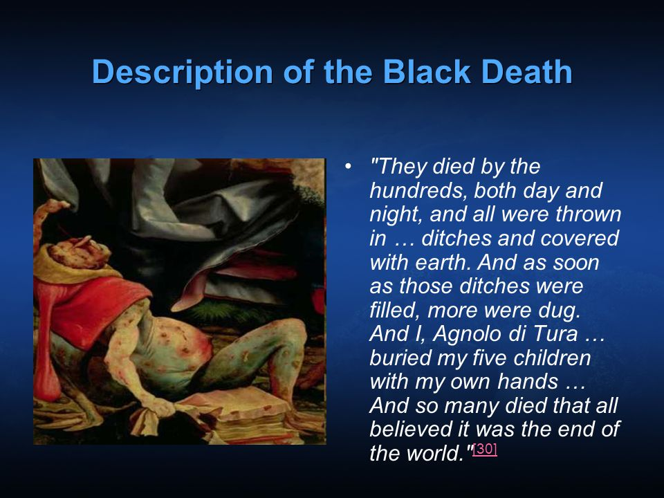 Description of the Black Death