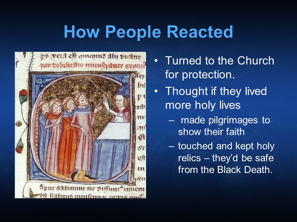 How People Reacted Turned to the Church for protection.