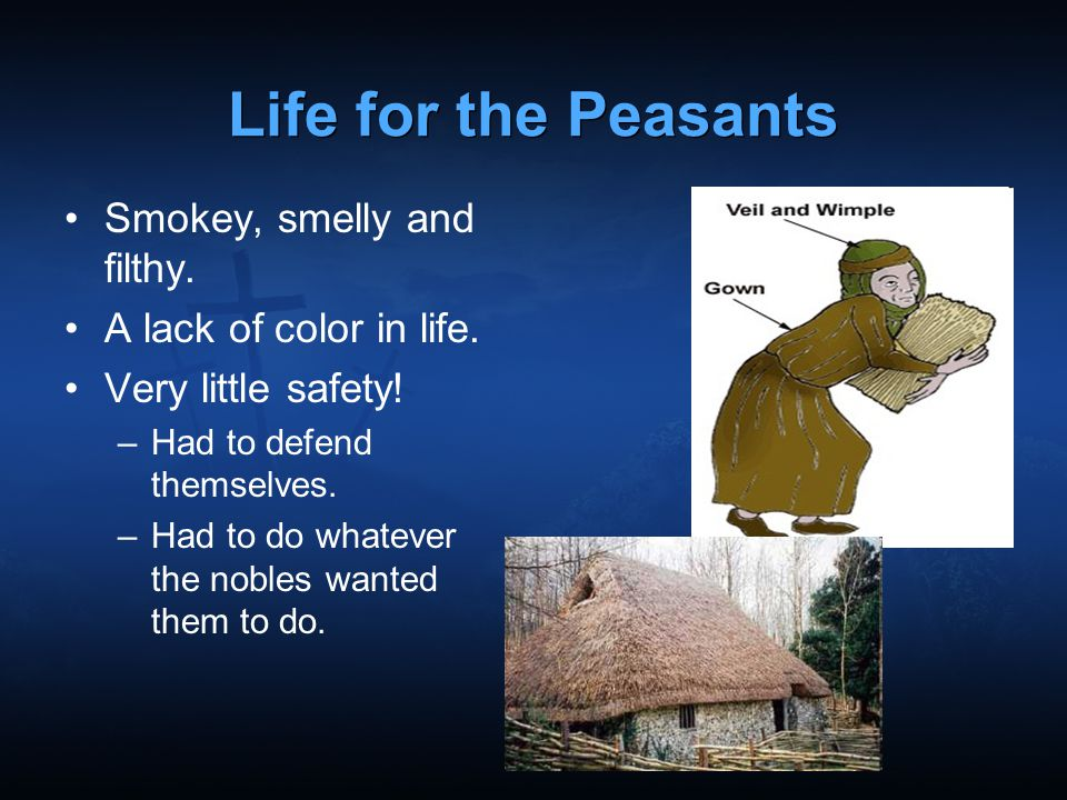 Life for the Peasants Smokey, smelly and filthy.