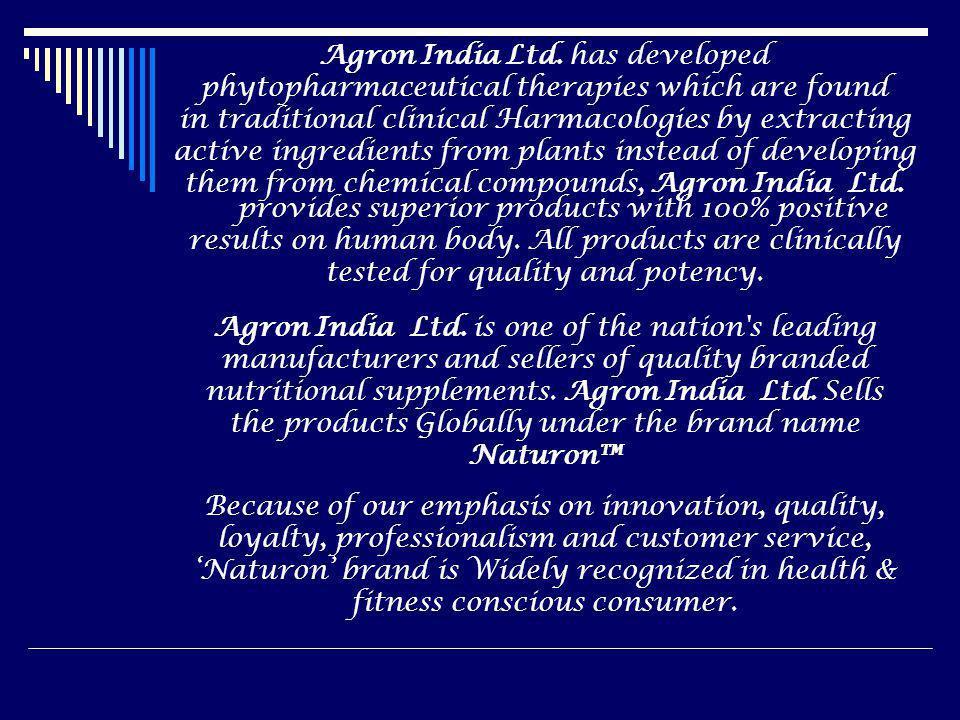 Agron India Ltd. has developed