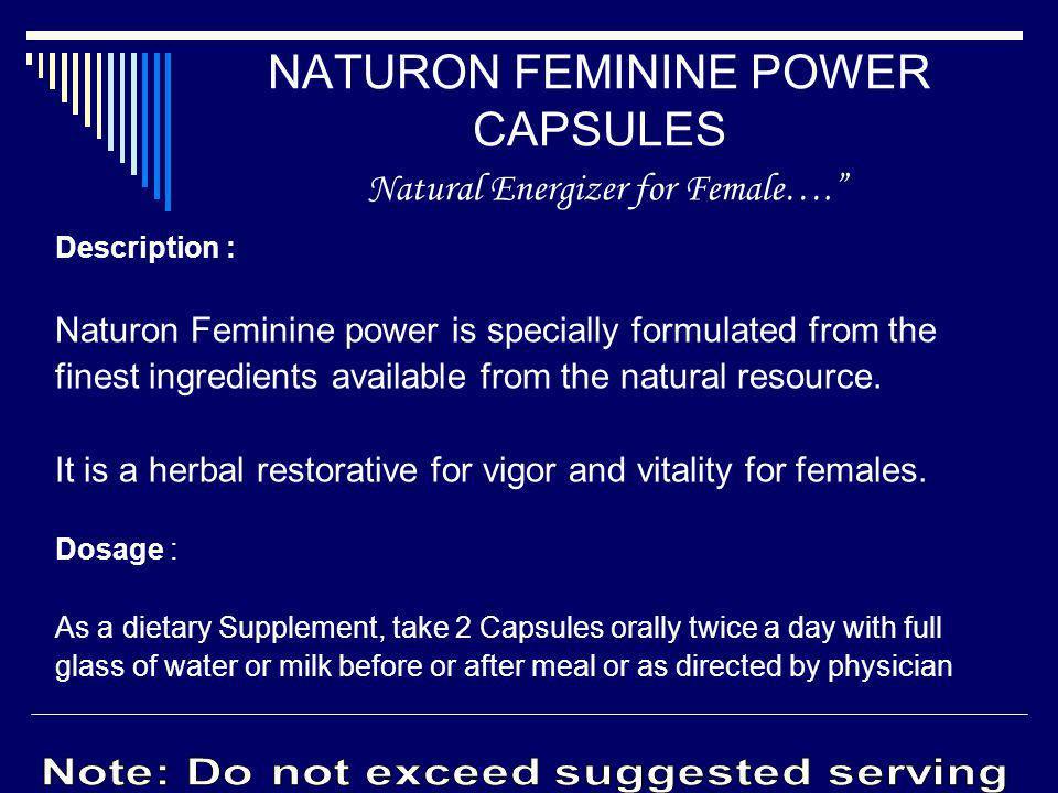 NATURON FEMININE POWER CAPSULES Natural Energizer for Female….