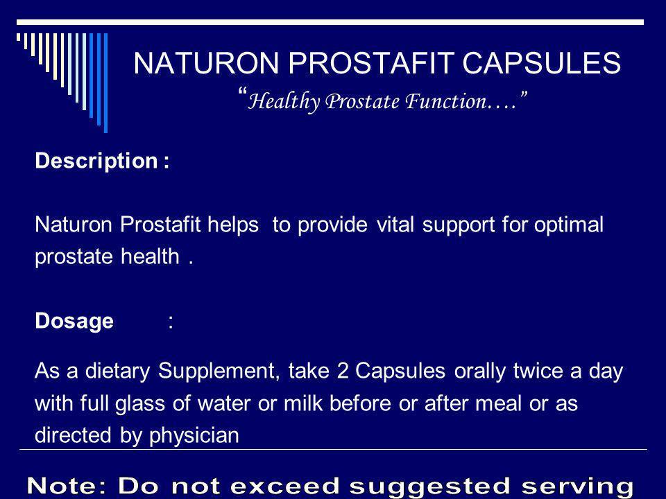 NATURON PROSTAFIT CAPSULES Healthy Prostate Function….
