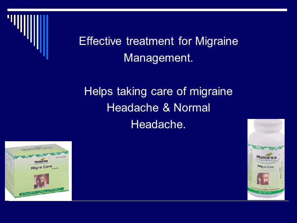 Effective treatment for Migraine Management.
