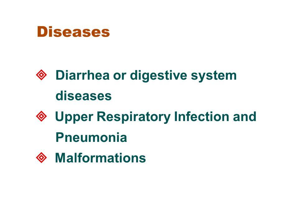 Diseases  Diarrhea or digestive system diseases