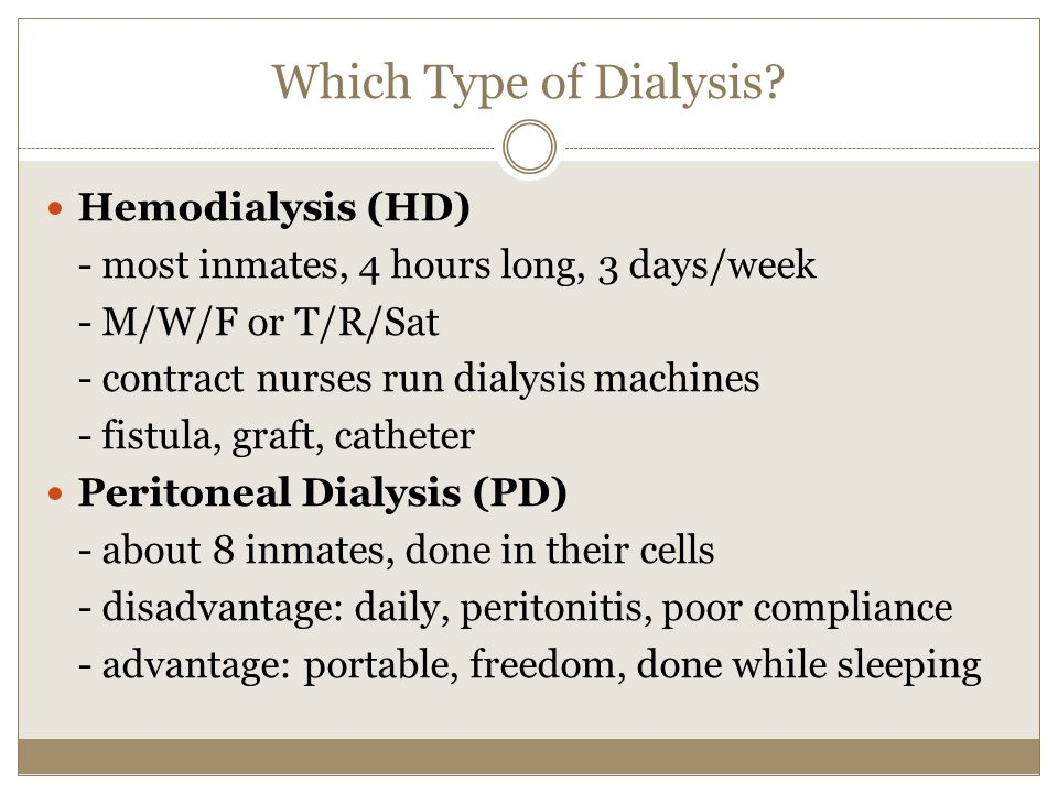 Which Type of Dialysis Hemodialysis (HD)