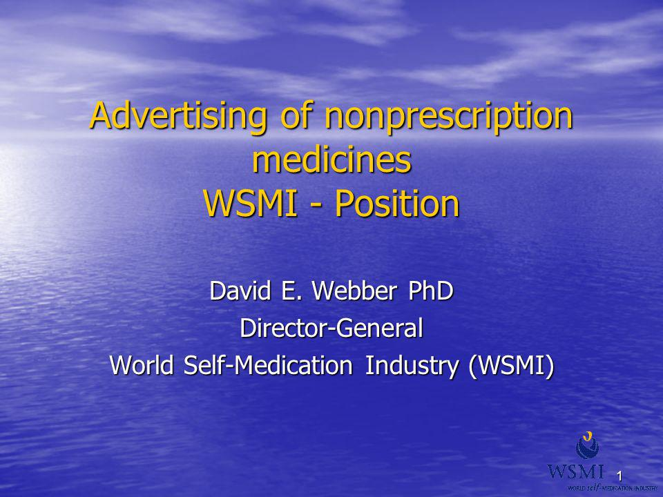 Advertising of nonprescription medicines WSMI - Position