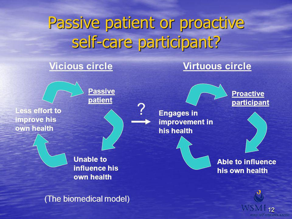 Passive patient or proactive self-care participant