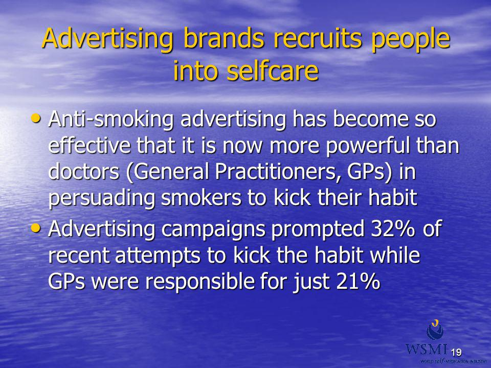 Advertising brands recruits people into selfcare